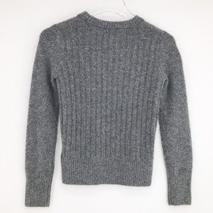 Topshop Crewneck Sweater - Gray, Size 2